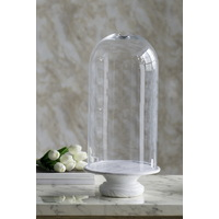 Glass Dome Marble Base Narrow