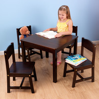 Kidkraft Farmhouse Table and 4 Chair set - Espresso