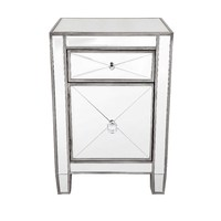 Apolo Bedside Table - Antique Silver