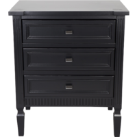 Merci Bedside Table - Large Black