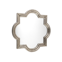 Marrakech Wall Mirror - Small Antique Silver