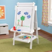 Adjustable Wooden Easel - White