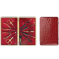 Niegeloh Kroko Xl Leather Manicure Set Red