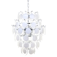 Brigitte White glass discs Pendant - Large
