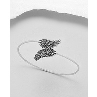 Angel wings - sterling silver cuff bracelet