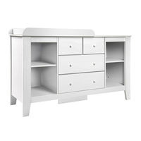 Drawer Baby Chest Change Table Dresser Cabinet White