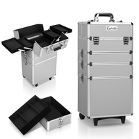 Embellir 7 in 1 Portable Cosmetic Beauty Makeup Trolley - Silver