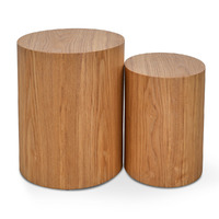 Albin Scandinavian Set of Tables - Natural