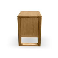 Alfred 1 Drawer Bedside Table - Natural Oak