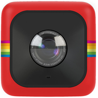Polaroid Cube+ Wi-Fi 1440p Lifestyle Action Camera with MicroSD Card and Polaroid Bumper Case - Red