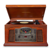 Crosley Lancaster Entertainment Center. Record/MP3 Player - Paprika