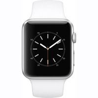Apple Watch Series 1 - 42mm Silver Aluminium Case with White Sport Band - MNNL2