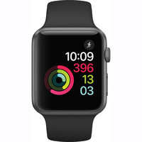 Apple Watch Series 1 - 42mm Space Grey Aluminium Case with Black Sport Band - MP032