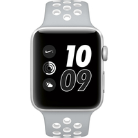 Apple Watch Nike+ 42mm Silver Aluminum Case with Flat Silver/White Nike Sport Band MNNT2