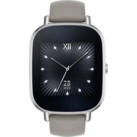 Asus Zenwatch 2 WI502Q Silver for Women (Khaki Leather Strap)