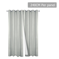 Set of 2 240CM Blockout Eyelet Curtain – Ecru