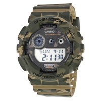 Casio G-SHOCK Analog-Digital Watch GD-120CM-5 - Green + Camouflage
