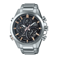 Casio EDIFICE Smartphone Link Bluetooth Dual World Time Watch (EQB-500D-1A2) - Black