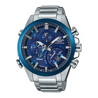 Casio EDIFICE Smartphone Link Bluetooth Dual World Time Watch (EQB-500DB-2A) - Blue
