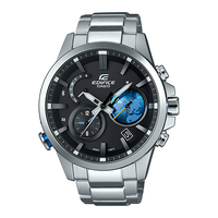 Casio EDIFICE Smartphone Link Bluetooth Dual World Time Watch EQB-600D-1A2 - Black