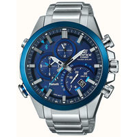 Casio EDIFICE Smartphone Link Bluetooth Dual World Time Watch EQB-501DB-2A - Blue