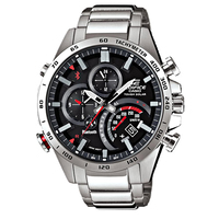 Casio EDIFICE Smartphone Link Bluetooth Dual World Time Watch EQB-501XD-1A - Black