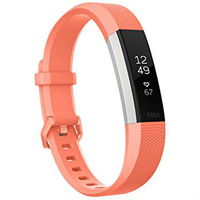Fitbit Alta HR Fitness Wrist Band - Large Coral
