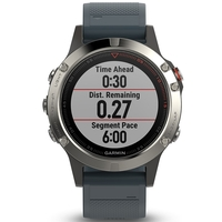 Garmin Fenix 5 Silver with Granite Blue Band Multisport GPS Watch Only
