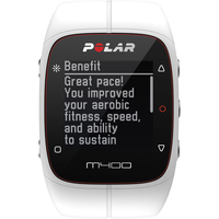 Polar M400 GPS Watch With Heart Rate Monitor (HRM) - White