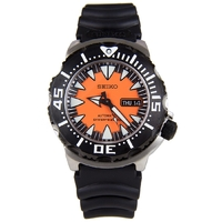 Seiko Men's Superior Automatic Diver's 200M Stainless Steel Watch SRP315K1 - Black and Orange