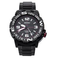 Seiko Men's Superior Automatic Diver's 100M Stainless Steel Watch SRP447K1 - Black