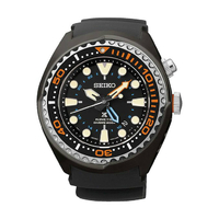 Seiko Men's Prospex Sea Automatic Kinetic Diver's 200M Stainless Steel Watch SUN023P1 - Black and Orange