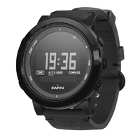 Suunto Essential Ceramic All Black Leather Outdoor Watch (SS022437000)