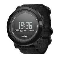 Suunto Essential Ceramic All Black Textile Outdoor Watch (SS022438000)