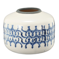 Shibori Pot Medium 23x23x18cmh