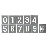Number Wall Art 32x2.3x28cmh