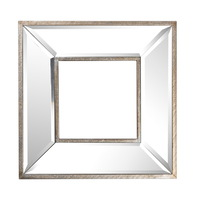 Antique Mirror Wall Art Square 31x4x31cmh