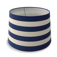 Blue & White Striped Linen Shade