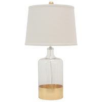 Adam Clear Glas with gold trim Table Lamp