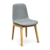 Cozy Dining Chair - Light Grey - Natural