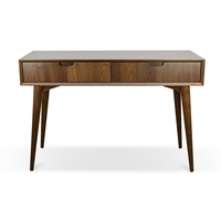 Johansen Scandinavian Console Table with Drawers – Walnut