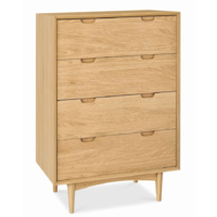 Asta - Retro Scandinavian 4 Drawer Chest