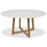 Zodiac Marble 150cm Dining Table Natural.