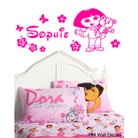 DORA Inspired & Personalised Name Removable wall sticker