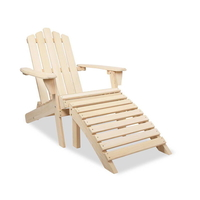 Adirondack Chair & Ottoman Set  - Natural
