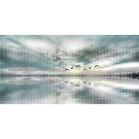 Birds Skylight Canvas Wall Art