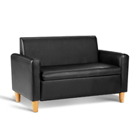 Kids Double Couch - Black