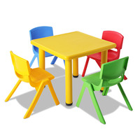 5 Pcs - Kids Table and Chairs Playset - Yellow