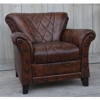 Studded Leather Arm Chair  (NEW COLLECTION)