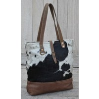 Cowhide And Leather Tote Bag  (NEW COLLECTION)